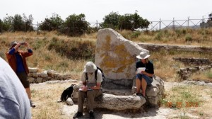 A standing stone at the small valley between Gerizim and Ebal. Again, this is in Shechem (Jacob's well), not too far from the Samaritan village of Sychar. Abraham built an altar here.