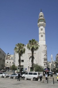 Mosque of Omar, in Manger Square in Bethlehem.