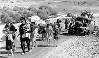 Palestinian families leaving Galilee in late 1948