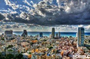 clouds over Tel Aviv