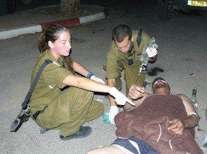 Treating Palestinian man
