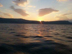 Sunrise over the Galilee