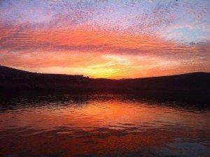 Sunset over the Kinneret