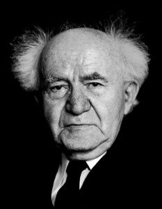 David Ben-Gurion, the primary founder and the first Prime Minister of Israel.