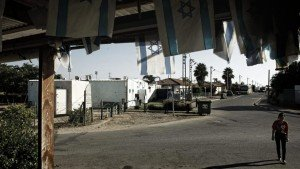 Camp for the former Jewish residents of Gush Katif, Gaza strip.
