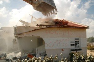 "The last Jewish home to be destroyed in Gush Katif under the ""disengagement."""