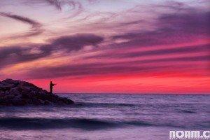 Sunset in Western Galilee. Photo by Noam Chen.