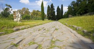 Begun in 312 BCE and extending almost 330 miles, the Appian Way was the main road from Rome to southeast Italy and beyond.