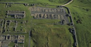 Housestead was one of many forts built along Hadrian's wall to protect the Roman empire from barbarian tribes in northern Great Britain.