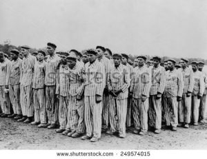 Roll Call at Buchenwald Concentration Camp...those who couldn't stand (sometimes in freezing temperatures for hours) were sent immediately to their death.