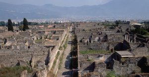 Constructed from blocks of lava or lime laid over heavy stone, Roman roads followed extremely straight paths.