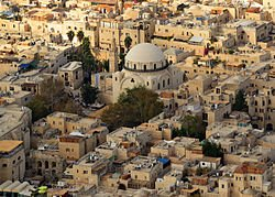 Aerial of Jewish Quarter of the Old City of Jerusalem